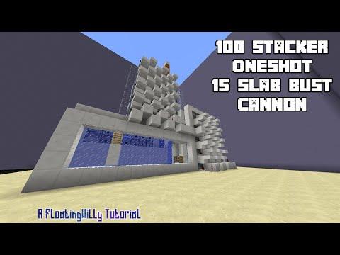 100 Stacker Oneshot 15 Slab Bust - TNT Cannon Tutorial