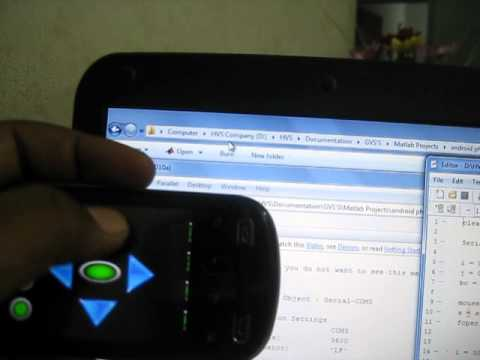 Android and MATLAB based sixth sense technology implementation on PC mouse operation