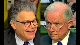 Al Franken Laughs at Jeff Sessions trying to answer his questions