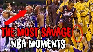 THE NBA'S TOP 12 MOST SAVAGE MOMENTS!