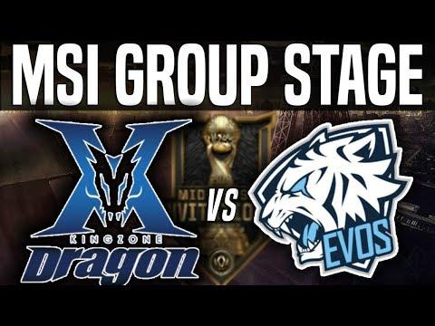 KZ vs EVS - MSI 2018 Group Stage Day 4 - Kingzone DragonX vs EVOS Esports League Of Legends MSI 2018