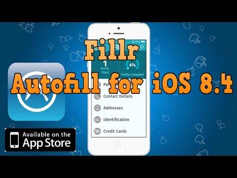 Fillr - Autofill for iOS 8.4