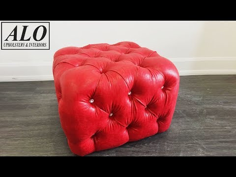 HOW TO UPHOLSTER A CRYSTAL TUFTED OTTOMAN - ALO Upholstery