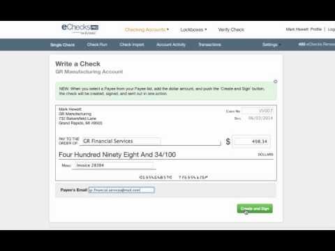 eChecks Send a single check | ABE Online