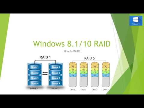 HOW TO SETUP RAID ON WINDOWS 8.1/10 NO BIOS SOFTWARE RAID