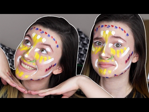 COLOURED FACE PAINT CONTOURING?