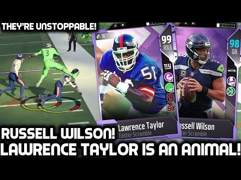 99 OVR LAWRENCE TAYLOR! GREATEST LINEBACKER IN THE GAME! Madden 18 Ultimate Team