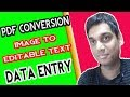 Image to text conversion   PDF conversion   Data entry from image to text   Hindi