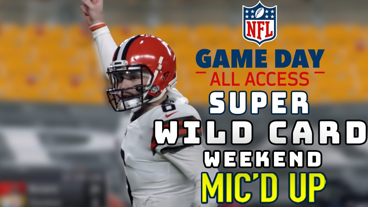 """Super Wild Card Weekend Mic'd Up! """"Do, or do not, there is no try""""   Game Day All Access 2020"""