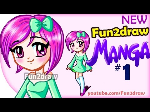 How to Draw - Anime, Manga, Easy - NEW Fun2draw Manga #1 - Cute Girl