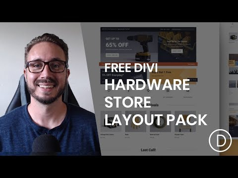 Get a FREE Hardware Shop Layout Pack for Divi