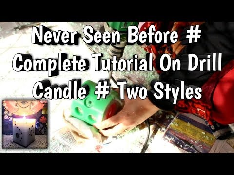 Drill Candle / Inside Out Candle / Designer Candle / Carved Candle