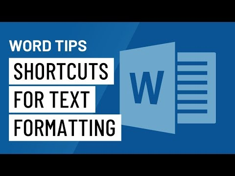 Word Quick Tip: Basic Shortcuts for Text Formatting