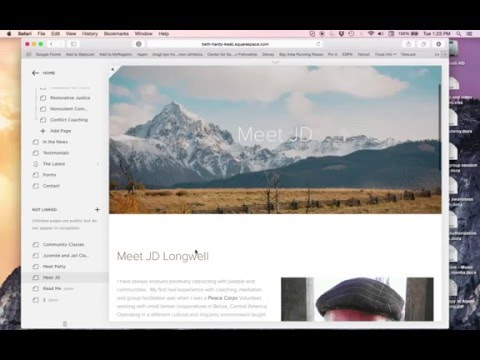 How to create links in Squarespace