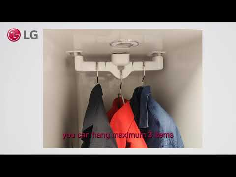 LG Styler: How to use the hangers