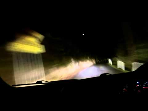 Driving down Mount Wellington