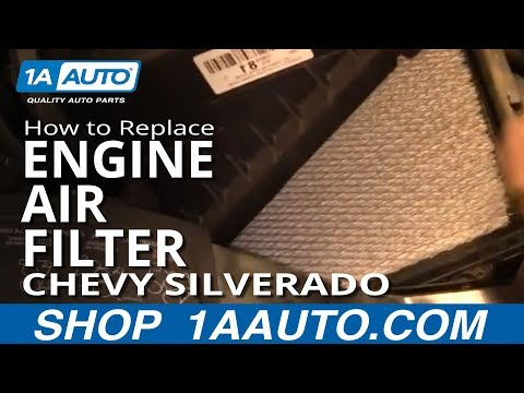 How To Install Replace Engine Air FIlter Chevy SIlverado GMC Sierra 1500 4.3L 99-06 1AAuto.com