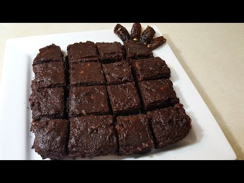 Date Brownies| Healthier Alternative| No Sugar, Only Dates