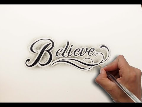 Diseño Letras BELIEVE / Lettering design Believe - Nosfe Ink Tattoo