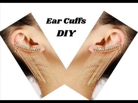 How to make ear cuffs with silk thread | jewellery tutorials