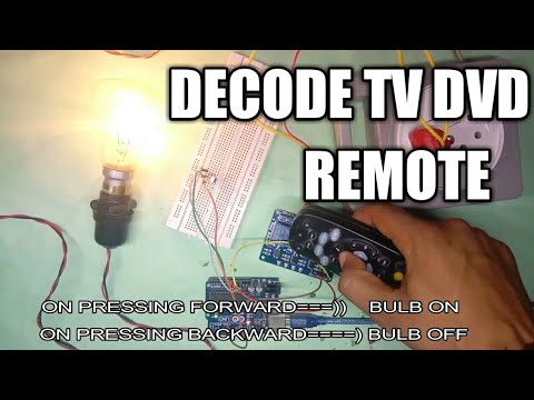 TV/DVD Remote Decode using Arduino and vs1838b IR recevier and using it in Home Automation