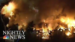 Pennsylvania Senior Center Destroyed By Massive Fire | NBC Nightly News
