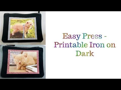 Printable Iron on dark - Cricut Easy Press