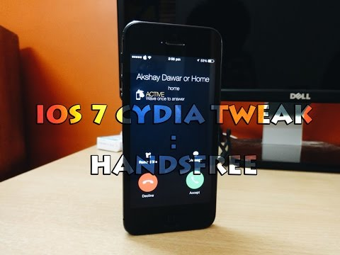 iOS 7 Jailbreak Tweak : HandsFree - Answer any phone call with a wave of your hand !