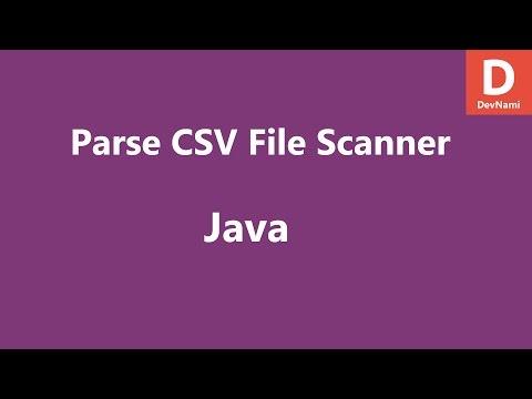 Java Parse CSV File using Scanner Class