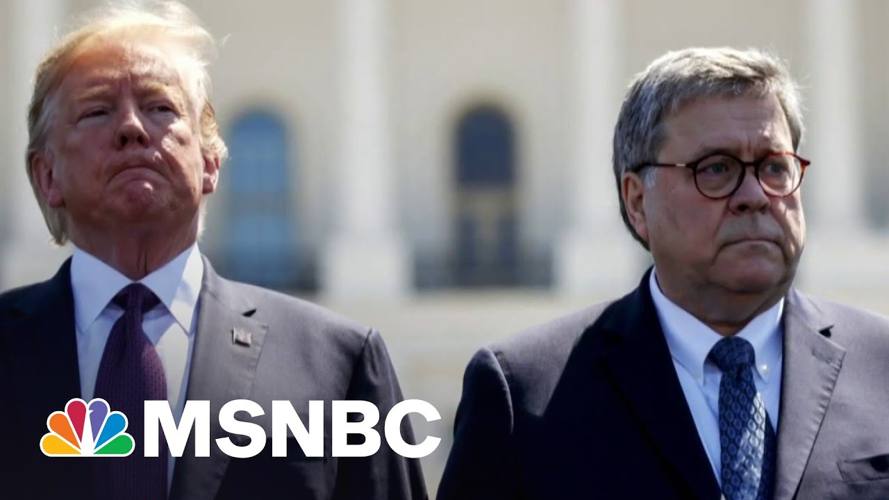 Book Details AG Barr's Realization That Trump Would Lose The Election