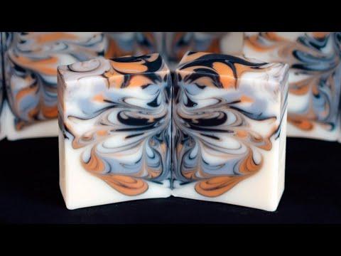 Butterfly Swirl Soap with Hanger Swirl - Homemade Soap