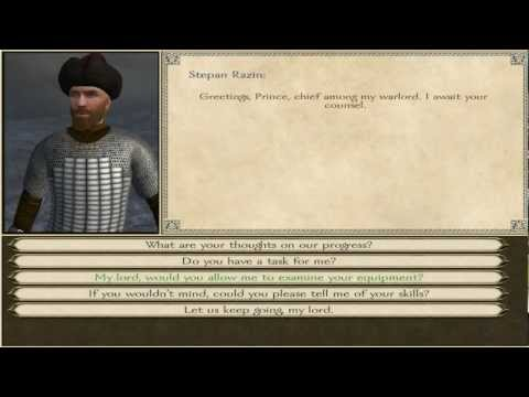 Mount & Blade: Fire and sword - How to help a noble (Stepan Razin) to reclaim his throne.