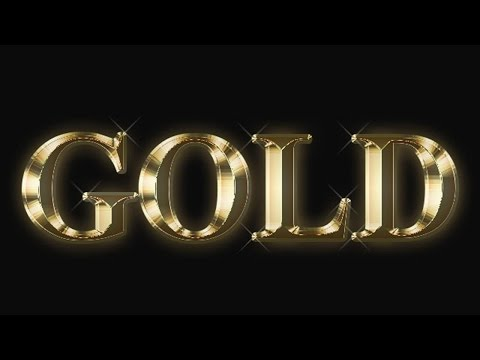 How to create Gold Plated Text Effect in Adobe Photoshop Tutorial