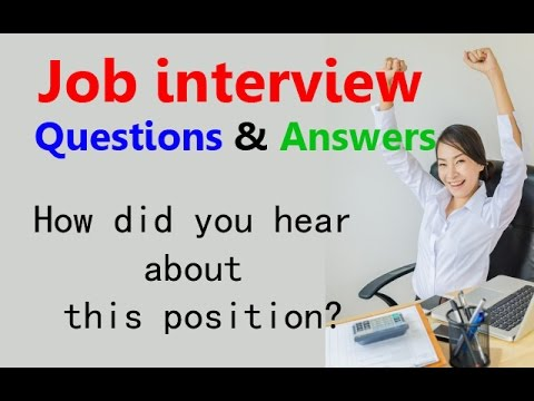 Job interview questions and answers: How did you hear about this position