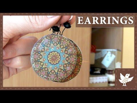 DIY || 3D Ethnic Earrings || Epoxy Resin || Polymer Clay Tutorial