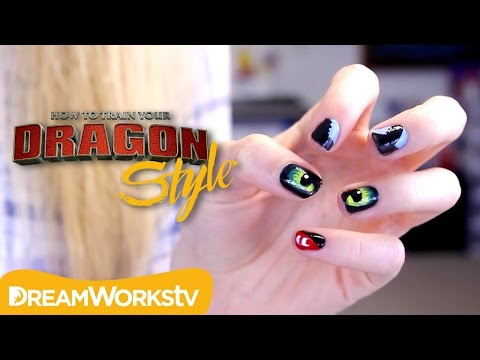 Night Fury Nail Art with Bananajamana | DRAGON STYLE