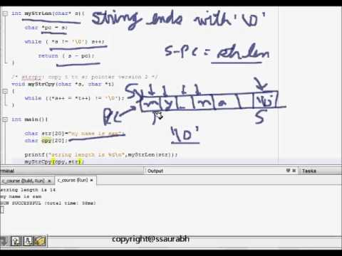 C Programming: Character Array Manipulation and String Handling