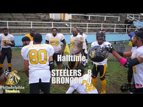 Philadelphia Steelers vs Delco Broncos Week 11 Semi Pro Football IFL