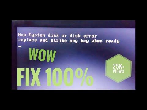 Non system disk error or disk error | fully explained