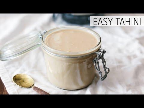 EASY TAHINI (SUPER CREAMY) | the best tahini recipe