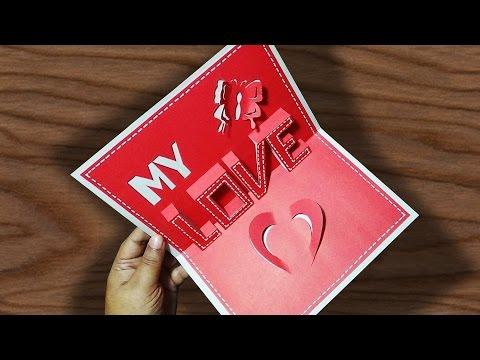 DIY Valentine's Day POP-UP Card | Anniversary Cards  Gift Idea | Handmade Greeting Card Ideas |