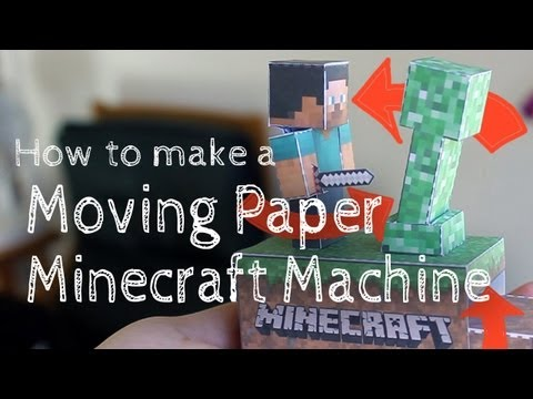 How to make a Moving Paper Minecraft Machine