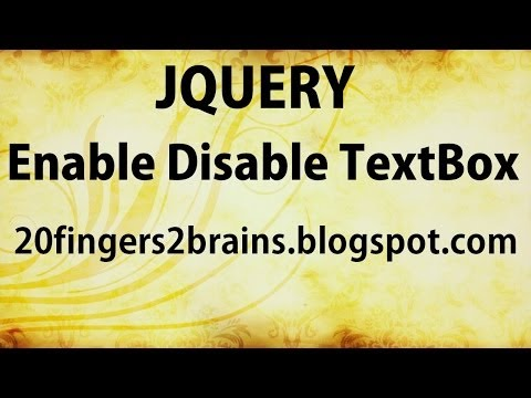 Enable disable textbox using jQuery