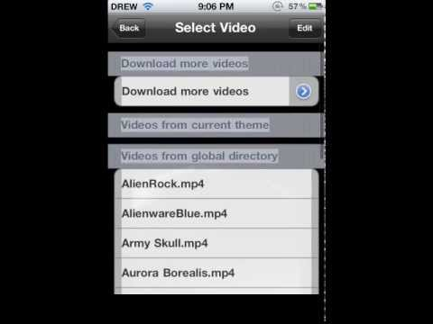 How to get live wallpaper for iPhone/iPod from cydia