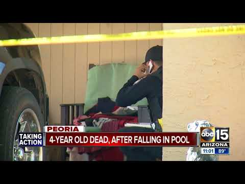 4-year-old dies after being pulled from babysitter's pool in Peoria