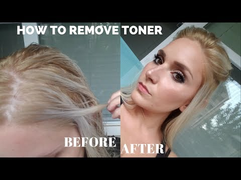 HOW TO REMOVE TONER FROM HAIR | LadyLuckTutorials