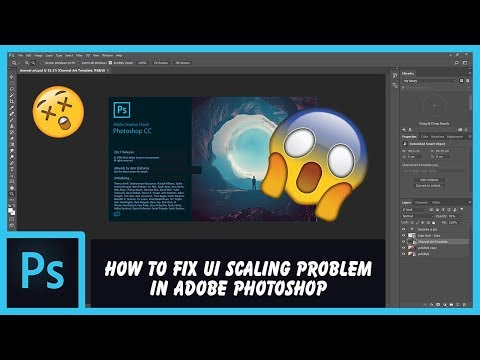 How to fix Adobe Photoshop UI scaling problem on high DPI displays | HD, 1080p, 4K