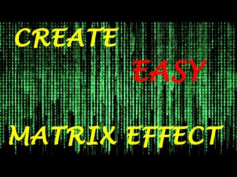 How to Make the Matrix Effect Using Notepad