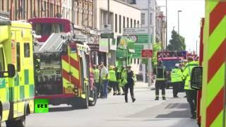 Screams as bus crashes into shop in Battersea, London
