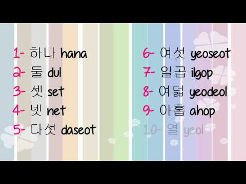 #3 Learning korean - Numbers (숫자 - Sutja) + Ordinal numbers